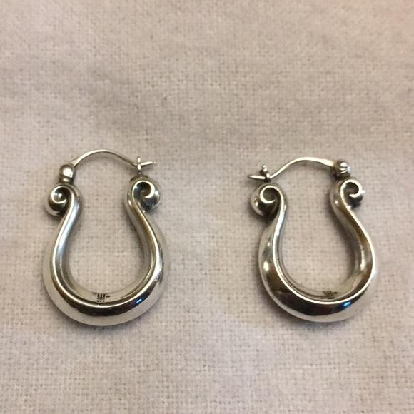 James Avery Jewelry Retired Scroll Earrings Poshmark
